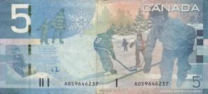 Canadian $5 Bill http://www.rosemonticeguys.com/2011_02_01_archive.html