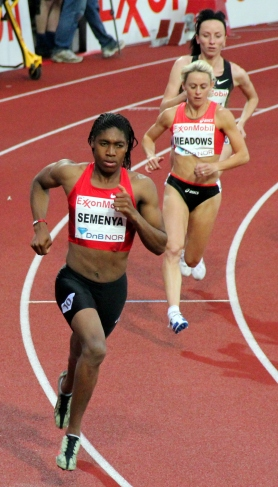 Semenya Competing in an 800-meter Race