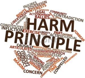 "The ""Harm Principle"" is more complex than Mill describes. It is quite difficult to determine who is being harmed."