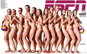 Female athletes line the cover of ESPN Magazine.