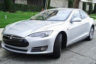 Tesla Model S, a 100% electric car
