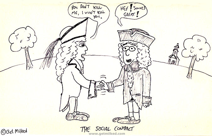 Funny cartoon about the social contract.