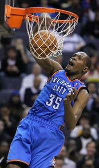 Kevin Durant, a professional basketball player, who is famous for athletic ability.