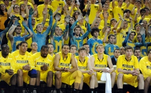 The Maize Rage, Michigan's basketball team's die hard student section, supports the team with constant energy.